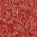 Maywood Glad Tidings Red Elegant Paisley w/metallic