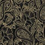 Maywood Glad Tidings Black Elegant Paisley w/metallic