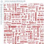 Benartex Joy Tis The Season White Red weiss rot